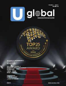 Cover page of Uglobal magazine